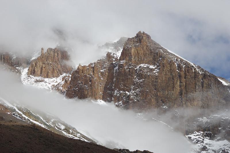 The Western Breach Wall of Mount Kilimanjaro