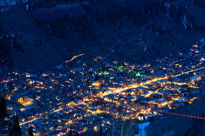Telluride at night