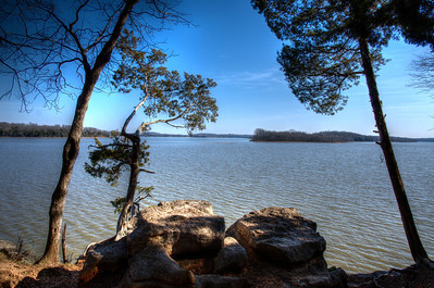 Percy Priest Lake as seen from Long Hunter State Park in Tennessee