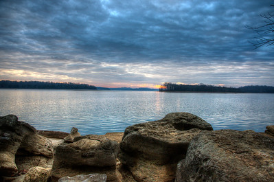 Percy Priest Lake at sunrise from Long Hunter State Park