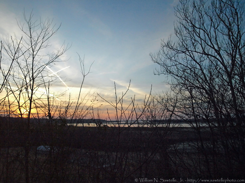 Sunset from the top of the bluff - Randolph, tennessee