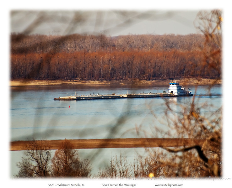Barge on the Mississippi River at Randolph, Tipton COunty, Tennessee