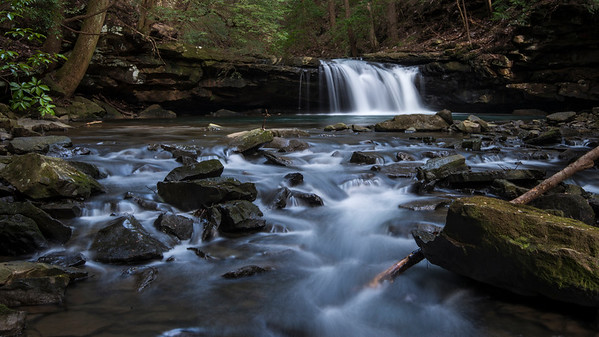 Blue Hole Falls on the Fiery Gizzard Trail in Tennessee