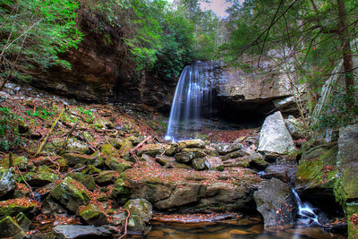 Suter Falls in the Collins Gulf area of the Savage Gulf State Natural Area in Tennessee