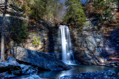 Rainbow Falls just off the Cumberland Trail on Signal Mountain, Tennessee