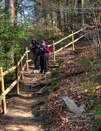 Burgess Fall Trail.  This trail has a lot of ups and down sections but all made easily accessible by hand rails provide by the park service.  There are numerous panoramic views along the way so you will be taking a lot of breaks on this hike to take in all the beauty.