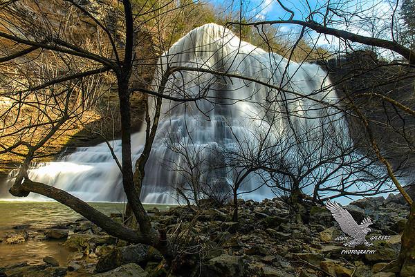 Burgess Falls: Base of the falls