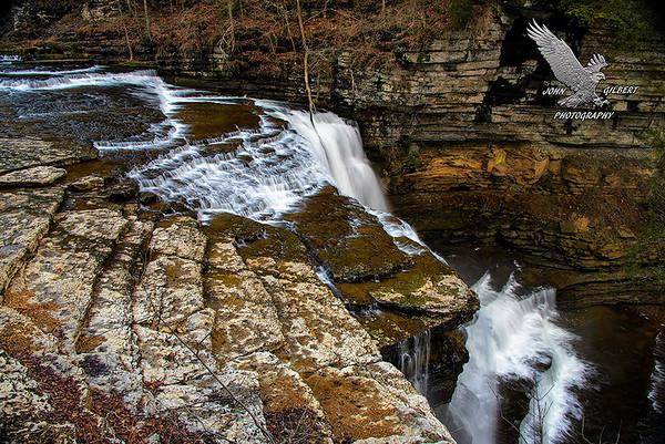 Cummins Falls:  Crown of the falls.
