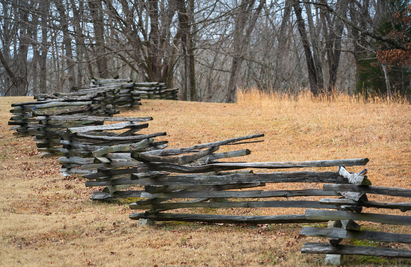 Fence at Fort Donelson National Battlefield