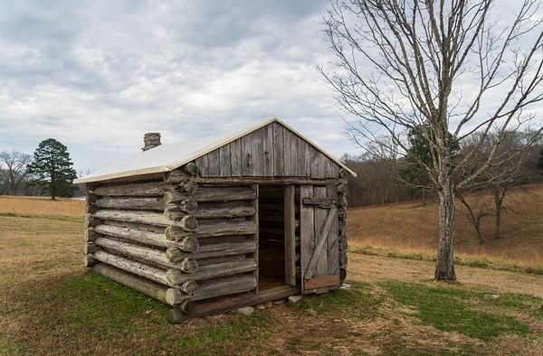 Log Cabin at Fort Donelson National Battlefield