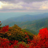 Fall foliage in the Great Smoky Mountains of East Tennessee.