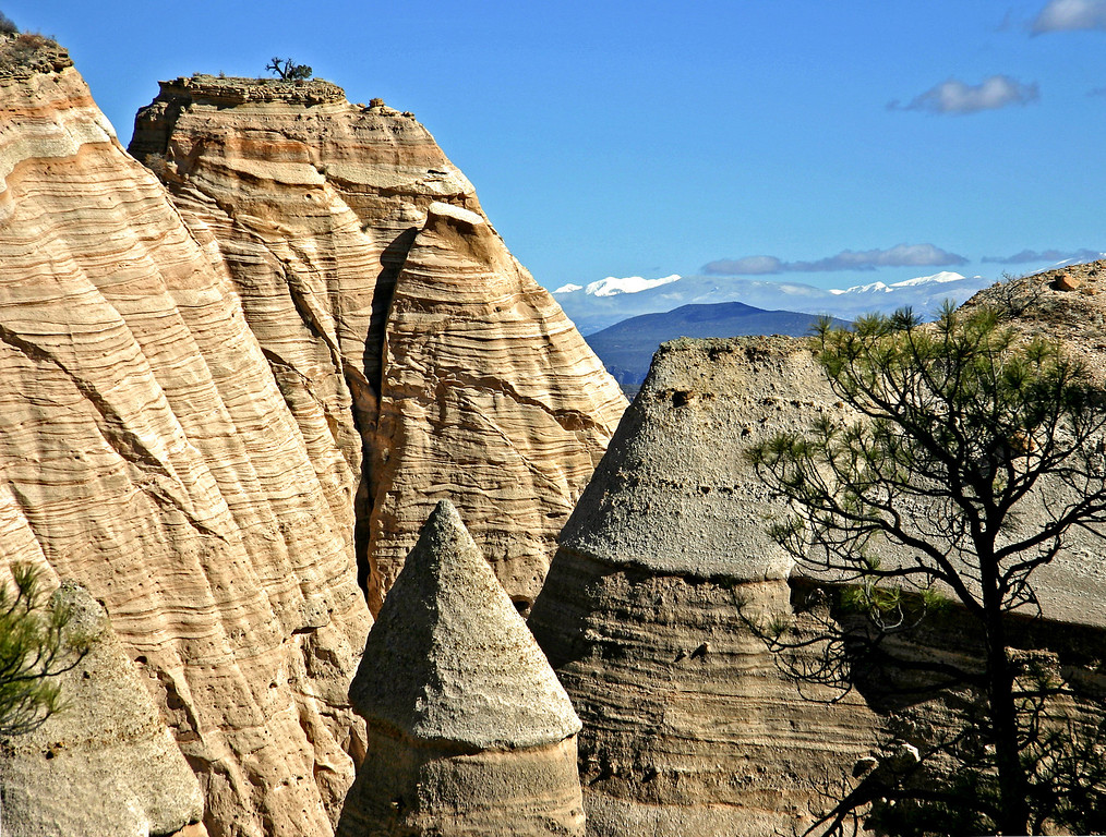 Tent rock formations in Kasha-Katuwe Tent Rocks National Monument.