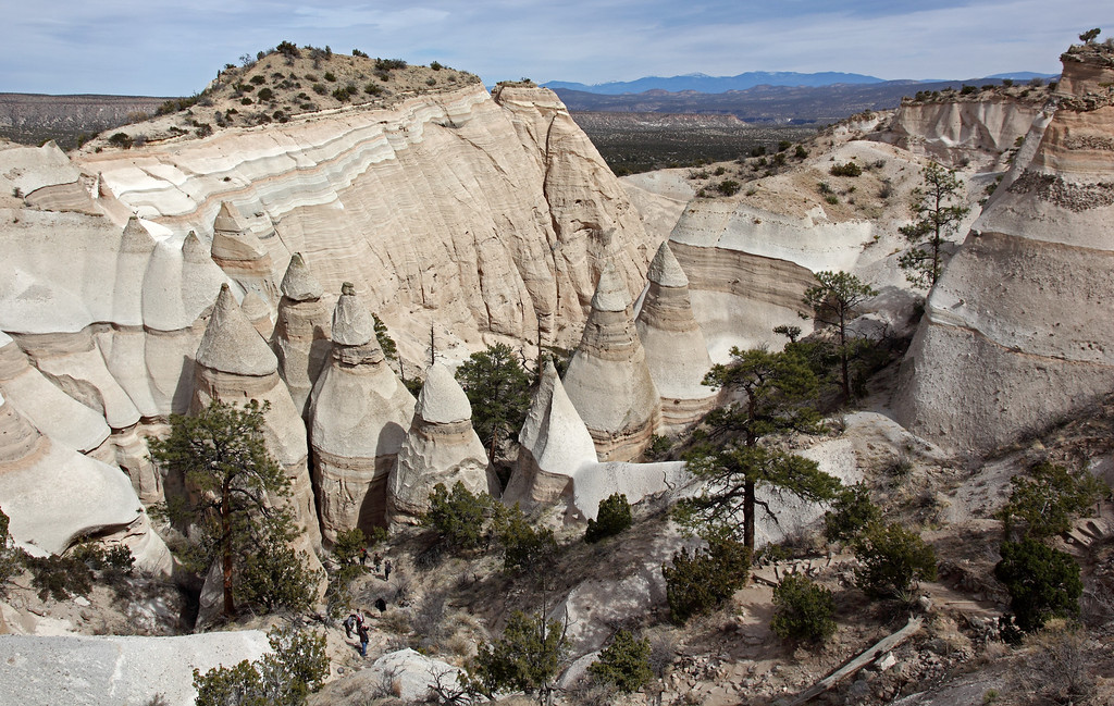 Tent rocks looking towards the Sangre de Christo mountains
