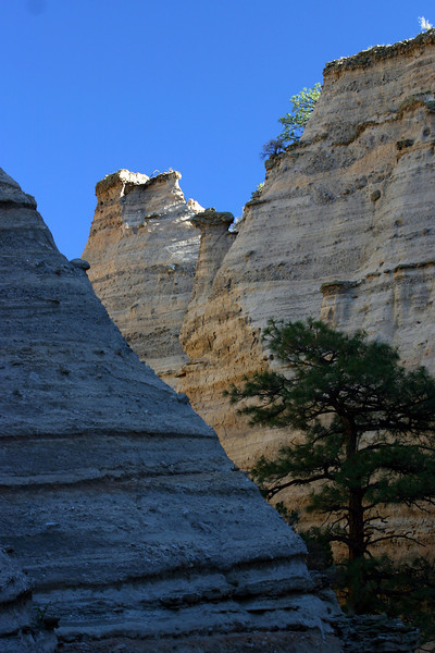 A hidden canyon in Kasha-Katuwe Tent Rocks National Monument.