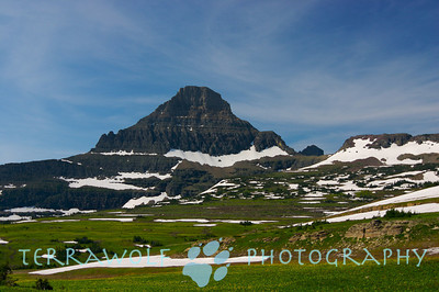 Logan Peak in Glacier. The Official turn-about of Summer.