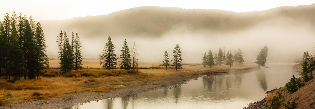Morning mist on the Snake River, Teton National Park