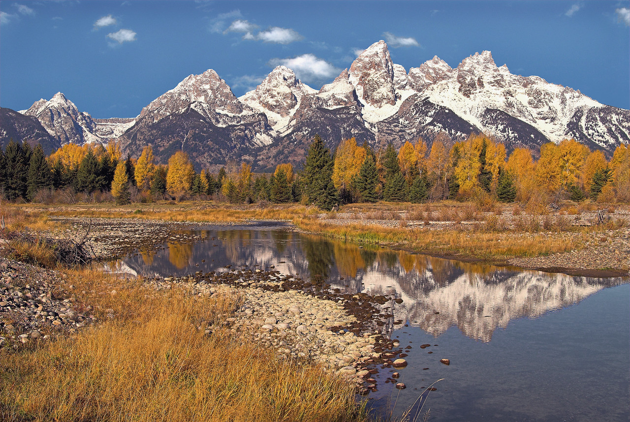 Teton Mountains near Schwabacher Landing
