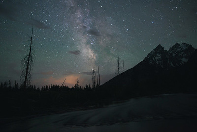 Milky Way, String Lake, Grand Teton National Park, WY.