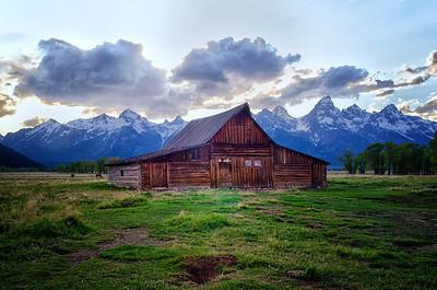 Moulton Barn in early light