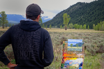 We were on the same mission....just different art forms to give you a glimpse of the beauty of the Teton Range