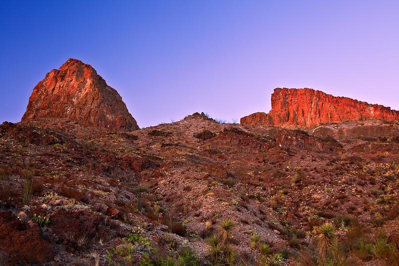 Texas, El Camino del Rio, Big Bend Ranch State Park,Sunset, Landscape, 德克萨斯, 大弯曲公园,黄昏,风景