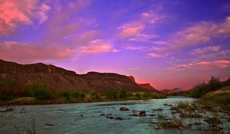 Texas, El Camino del Rio, Big Bend Ranch State Park,  Dawn, Landscape, 德克萨斯, 大弯曲公园,黎明,风景