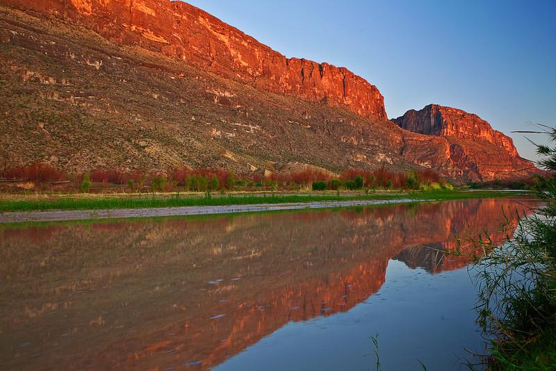 Texas, Big Bend National Park, Santa Elena Canyon, Sunrise, Landscape, 德克萨斯, 大弯曲国家公园, 风景,