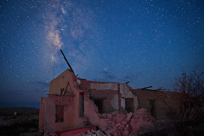 Texas, Ghost Town, Ruins, Terlingua, Milky Way, Galaxy, Dawn Twilight, Landscape, 德克萨斯, 鬼城,废墟,银河,星空, 黎明, 风景