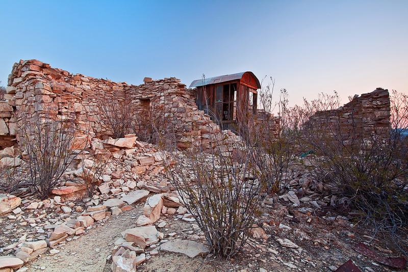 Texas, Ghost Town, Ruins, Terlingua, Dawn, Landscape, 德克萨斯, 鬼城,废墟, 黎明, 风景