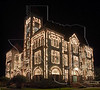 DeWitt County Courthouse with Christmas Lights,<br /> Cuero, Texas