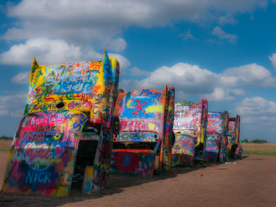 Cadillac Ranch is located at exit 62 on Interstate 40 in Amarillo, Texas.