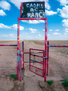 Entrance to Cadillac Ranch is located at exit 62 on Interstate 40 in Amarillo, Texas.
