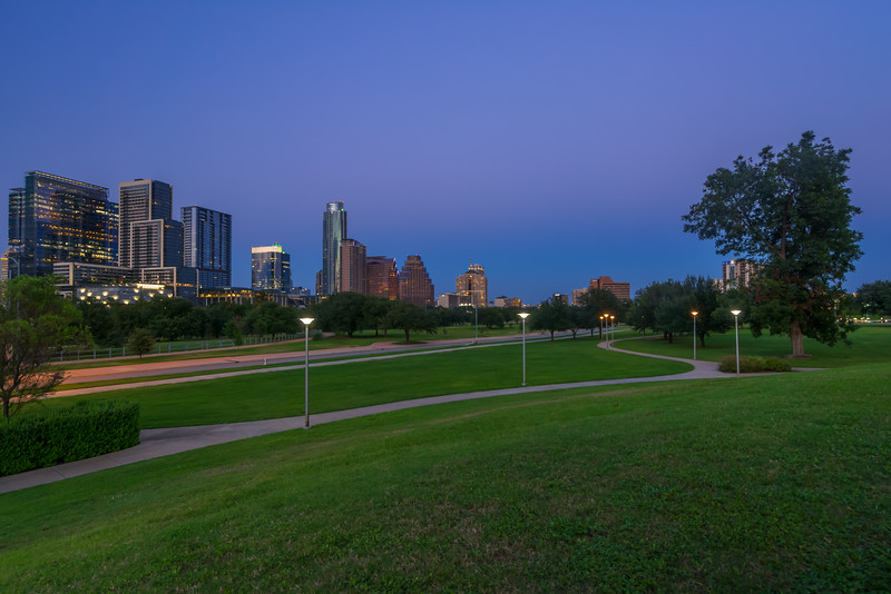 Austin from Doug Sahm Hill at Blue hour.