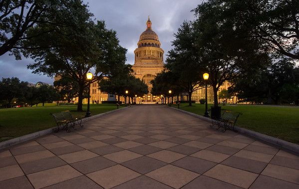 Morning at the Great Walk: Texas Capitol Building.