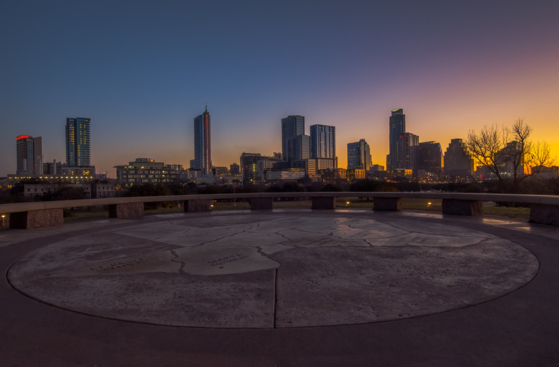 Doug Sahm hill before sunrise.
