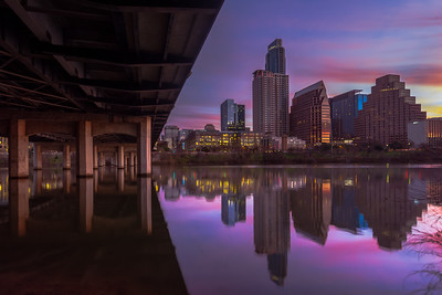 First Street bridge and Austin at Sunrise  1.