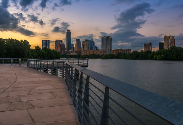The Boardwalk Trail at sunset:  June 2015.