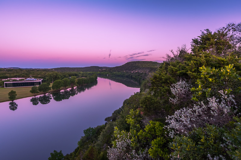 Lake Austin from 360 Overlook at Sunrise.