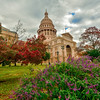 Texas Capitol with Fall Colors 2
