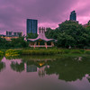 The Gazebo at Lady Bird Lake at Sunrise.