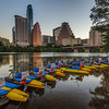 Paddle boats in the early morning : Austin Texas.