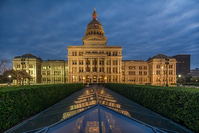 Texas Capitol with Extension at Night.