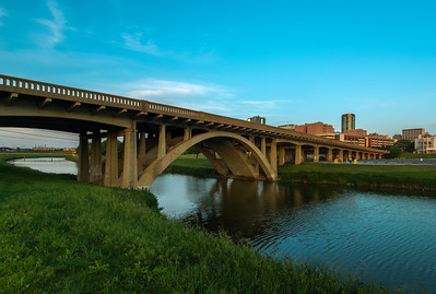North Henderson street bridge at Sunset.