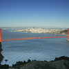Golden Gate Bridge and San Francisco from Hawk Hill on Conzelman Road