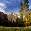 El Capitan from the valley floor- Yosemite National Park...