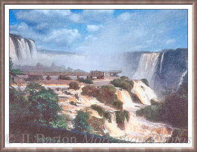 Iguazú Falls The largest waterfall in the world Brazil on one side, Argentina on the other