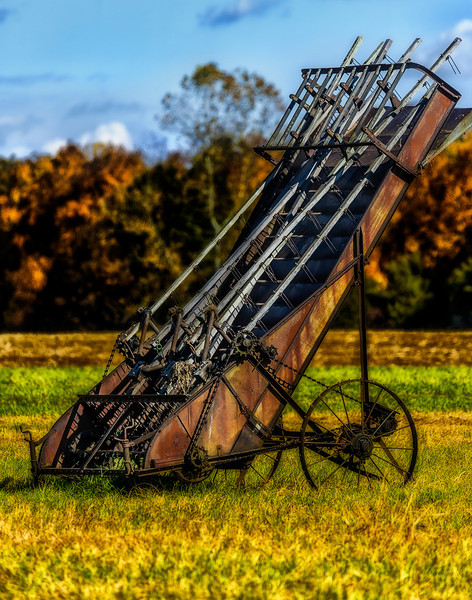 Amish farming machine,  Weakley Creek Road, about 7 miles from Lawrenceburg, TN