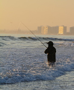 Surf Fishing at Silver Strand - Coronado, Ca