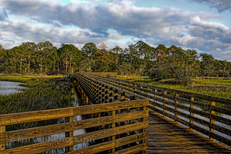 """Sunset Pier""  This was taken at the Tide View Preserve in Atlantic Beach, Florida."