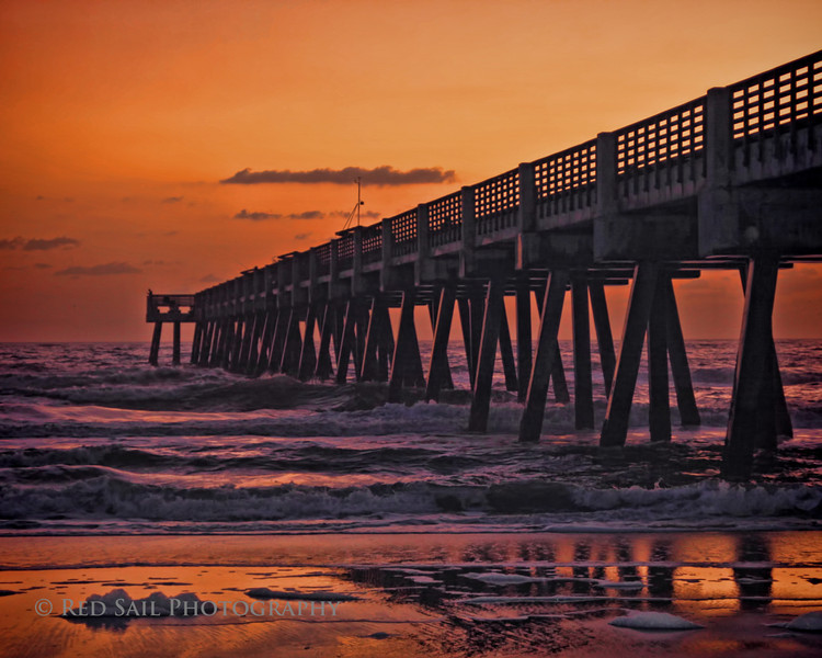 Sunrise at the Jacksonville Beach Pier.